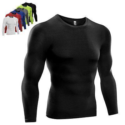 Men Compression Base Layer Sport Long Sleeve