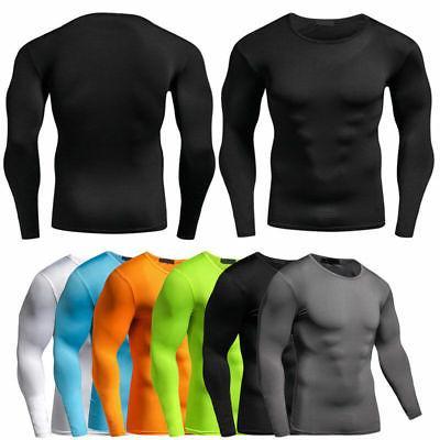 men compression t shirt base layer tight