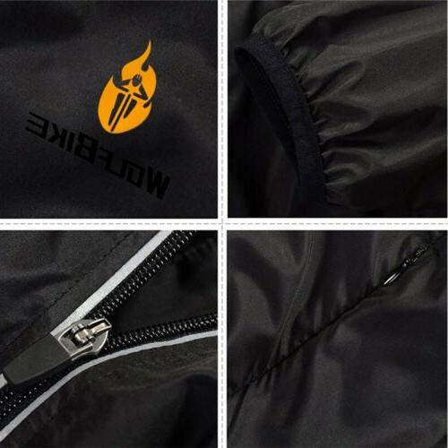 Men Cycling Jacket Sleeves Reflective Running Coat