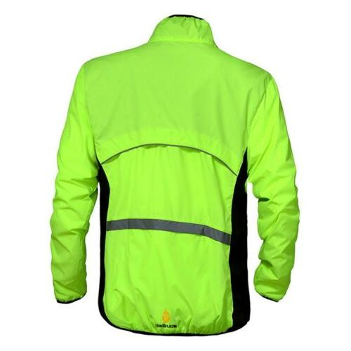 Men Jacket Long Sleeves Jersey Reflective