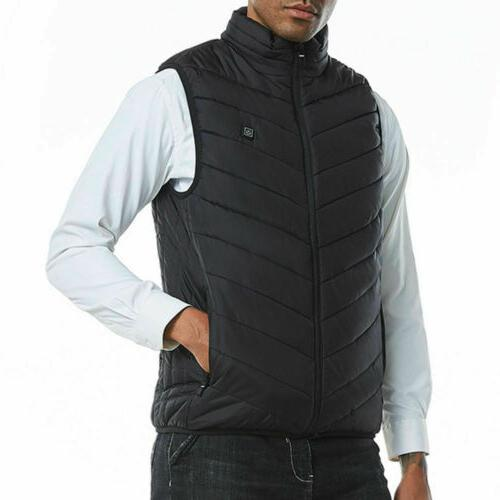 Men Electric USB Vest Coat Jacket Up Pad Body