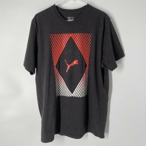 men grey graphic logo t shirt adult