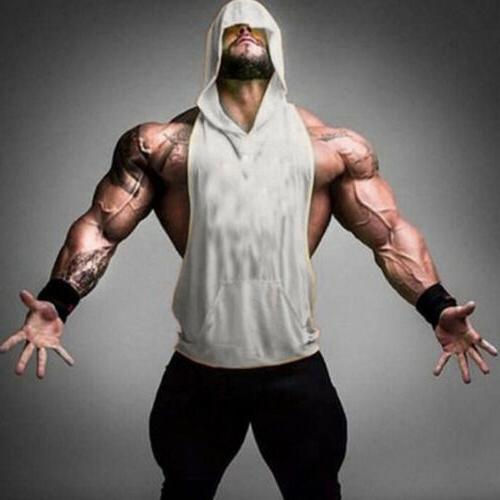 Men Clothing Bodybuilding Stringer Hoodie Tank Top Muscle Hooded