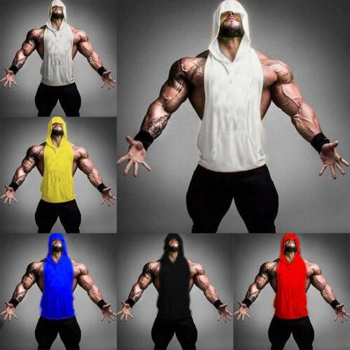 Men Clothing Stringer Hoodie Tank Top Muscle
