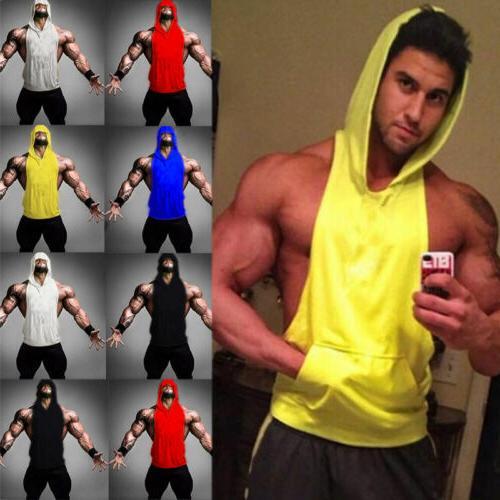 Men Gym Stringer Tank Muscle Hooded