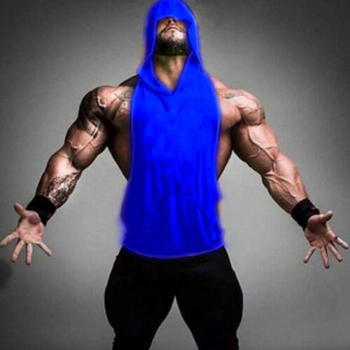 Men Clothing Stringer Hoodie Tank Top Muscle Hooded