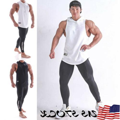 e240619cd011e Men Gym Clothing Bodybuilding Stringer Hoodie Tank Tops