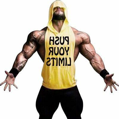 Men Hoodie Top Muscle