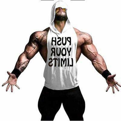 Men Clothing Hoodie Vest Bodybuilding Top Shirt