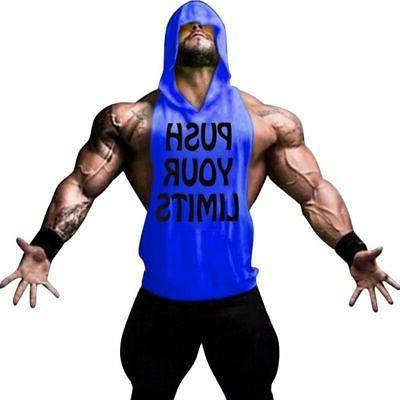 Men Clothing Hoodie Vest Bodybuilding Tank Top Muscle