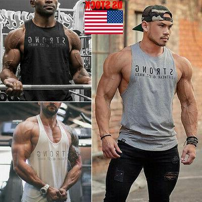Men Bodybuilding Workout Vest