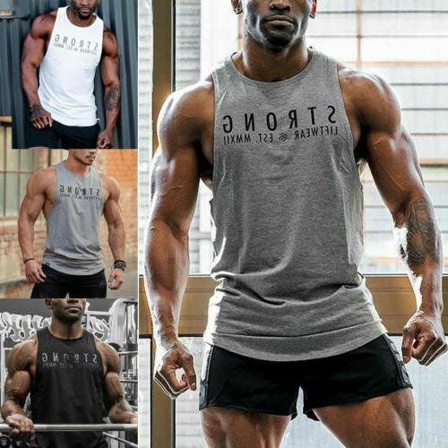 men gym t shirt bodybuilding fitness clothing