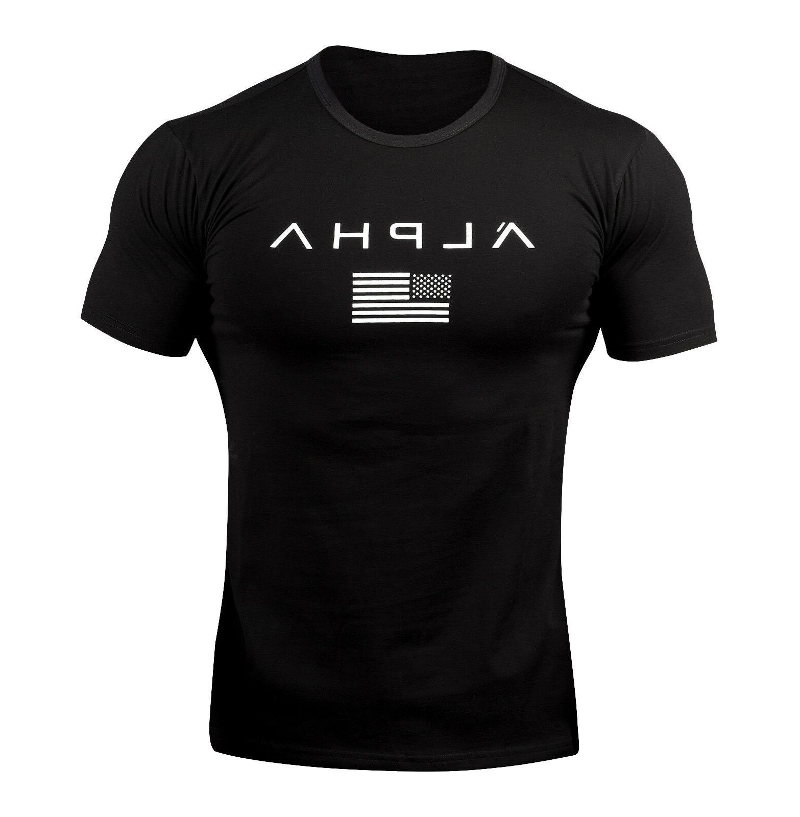 ALPHA Gym Muscle Tee Workout Clothes