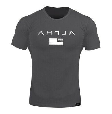 Men Gym Sports Fitness Fit Tee Workout Clothes Sport