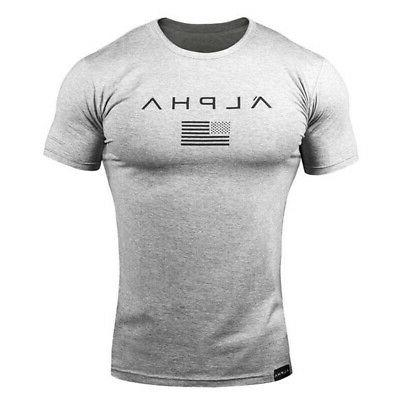 Men Gym T-Shirt Sports Tee Workout Top Clothes Sport