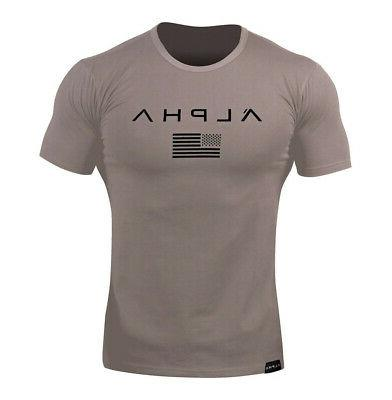 Men Sports Fitness Tee Workout Clothes Sport