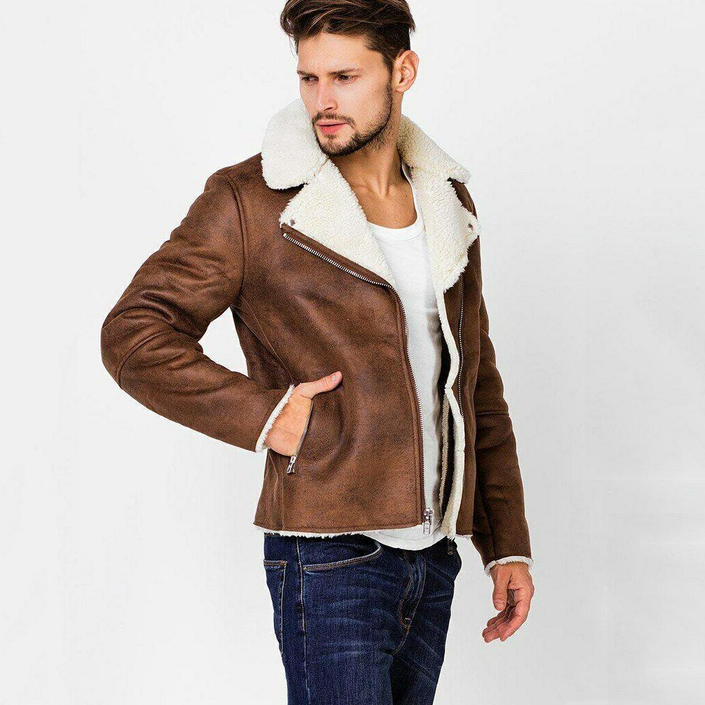 FeiTong Jacket Mens Liner ZipperLapel
