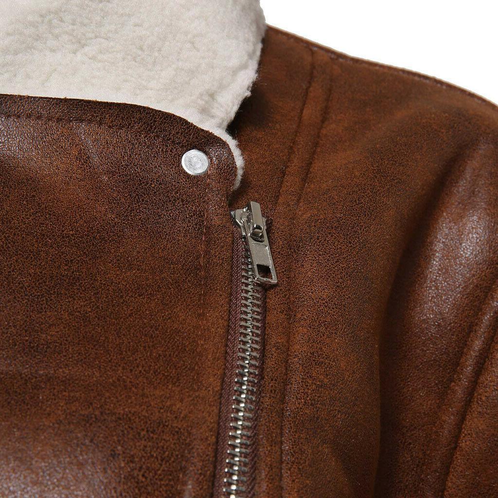 FeiTong Streetwear Mens Clothing Liner ZipperLapel