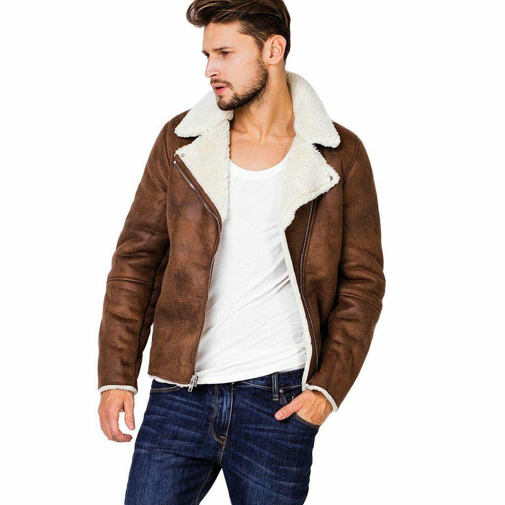 men jacket streetwear mens clothing autumn fur