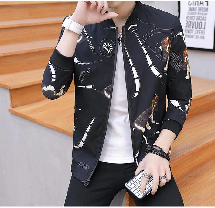 Men Casual Jackets Mens Spring Coat Printing
