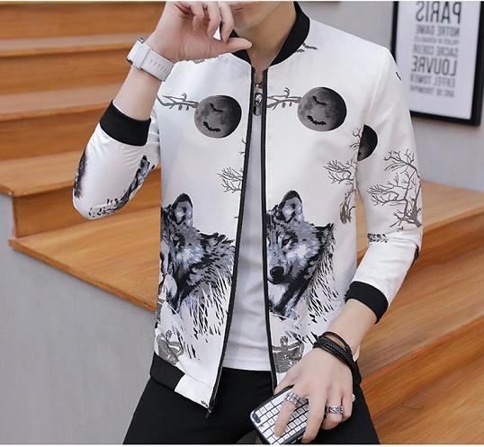 Men Jackets Spring Trend Handsome Coat