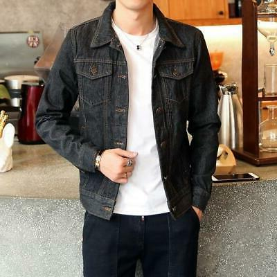 Men Dark Blue Jacket Jeans Jacket
