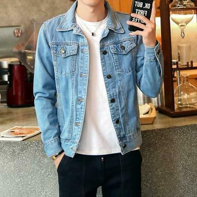 Men Blue Clothing Jacket Fashion Jeans Jacket