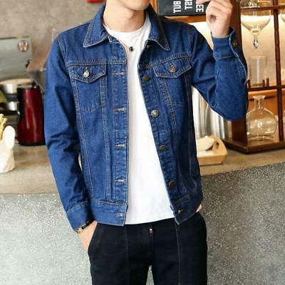 men jean jackets dark blue black clothing