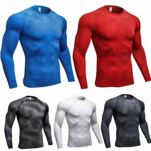 Men Long Layer Fitness Tops