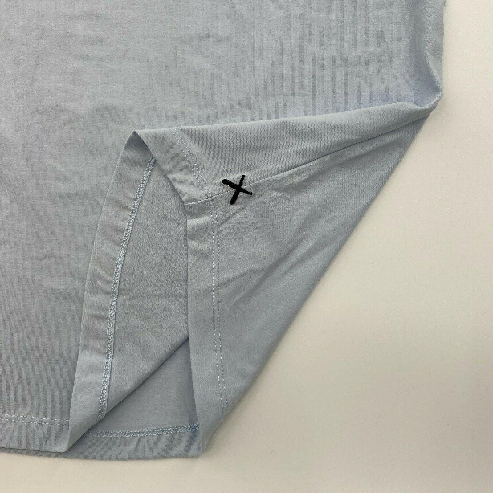Cuts Men Long Sleeve Curve Hem Hooded Tee Size M