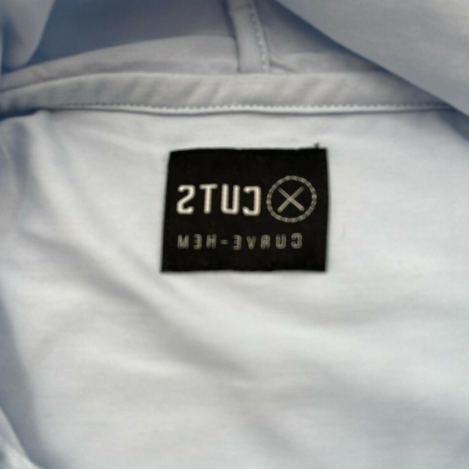 Cuts Clothing Men Long Sleeve Crew Hem Hooded Tee Size