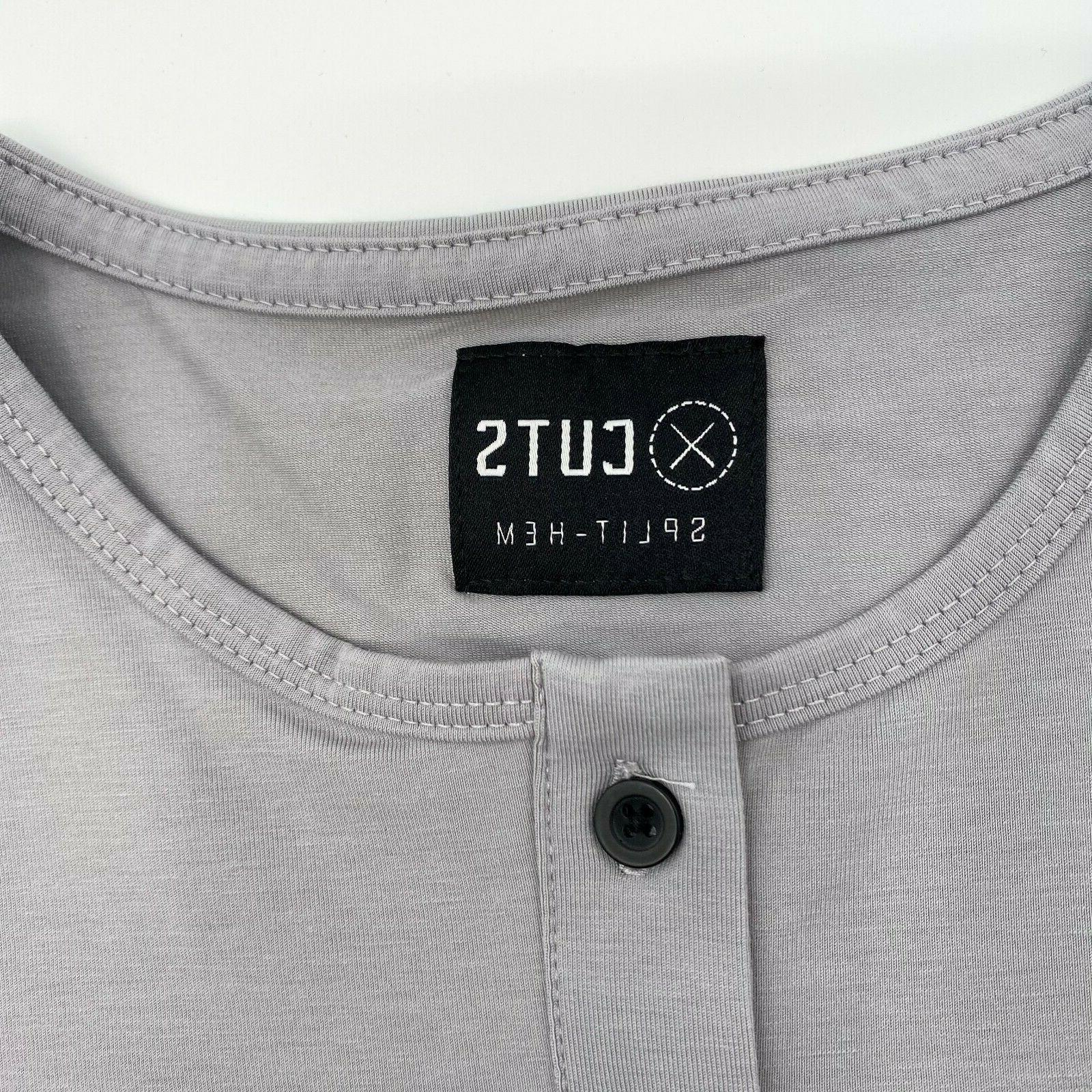 Cuts Men Sleeve T-Shirt Granite Gray M XL