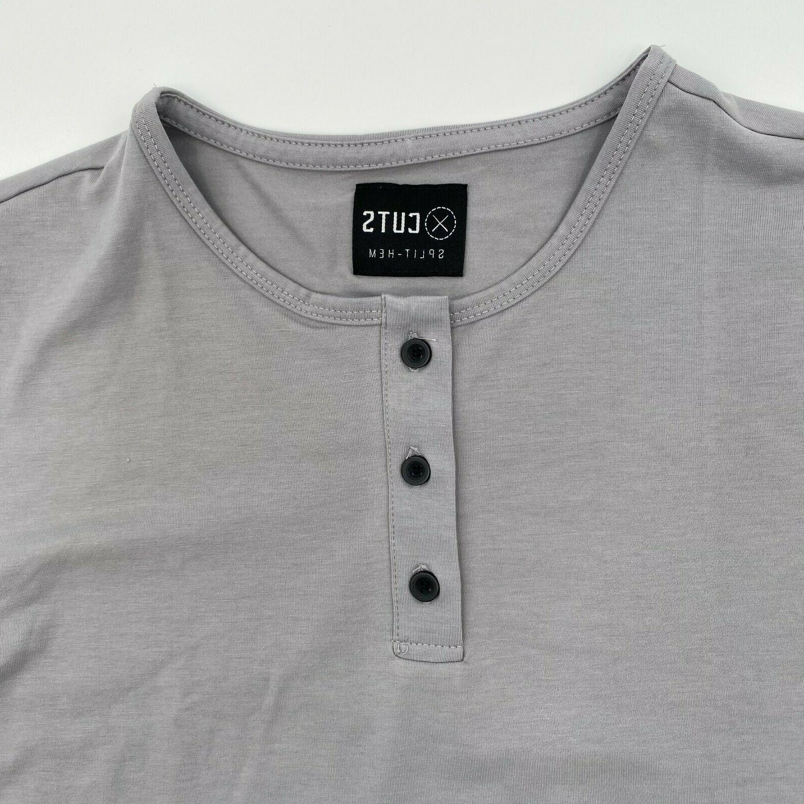 Cuts Men Sleeve T-Shirt Granite Sz M