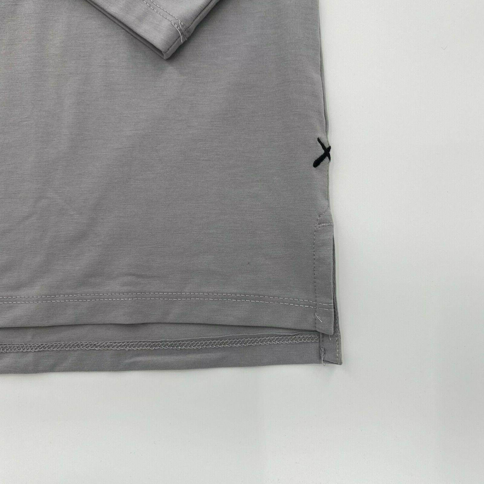 Cuts Sleeve Split Hem M XL