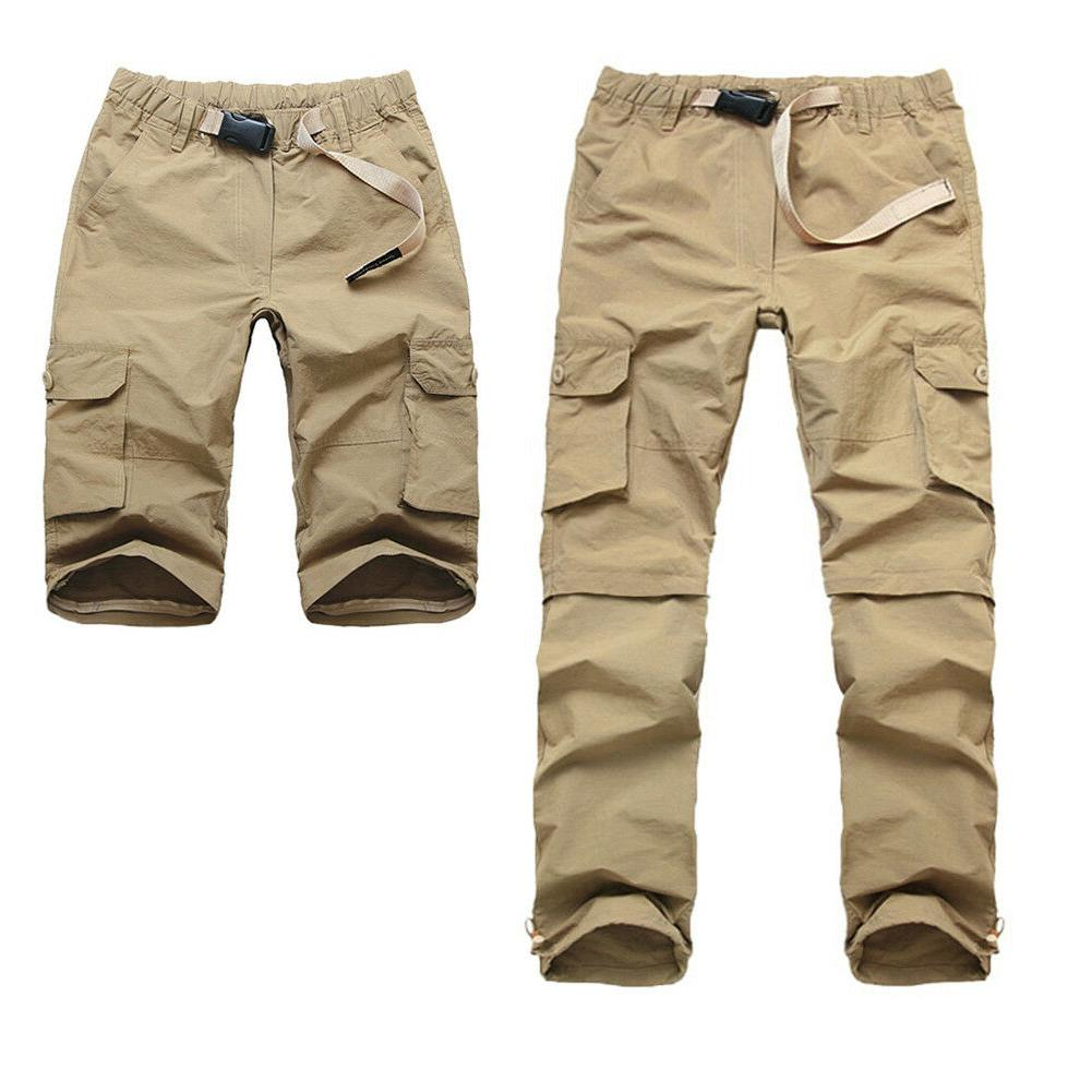 TACVASEN Mens Quick Zip Off Shorts Dri-FIT Cargo Pants