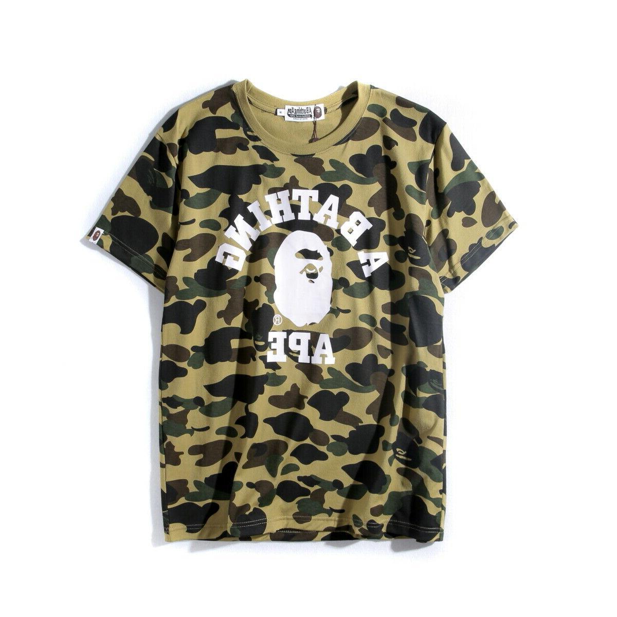 Men's A Bathing Ape T-shirt Camo tee size