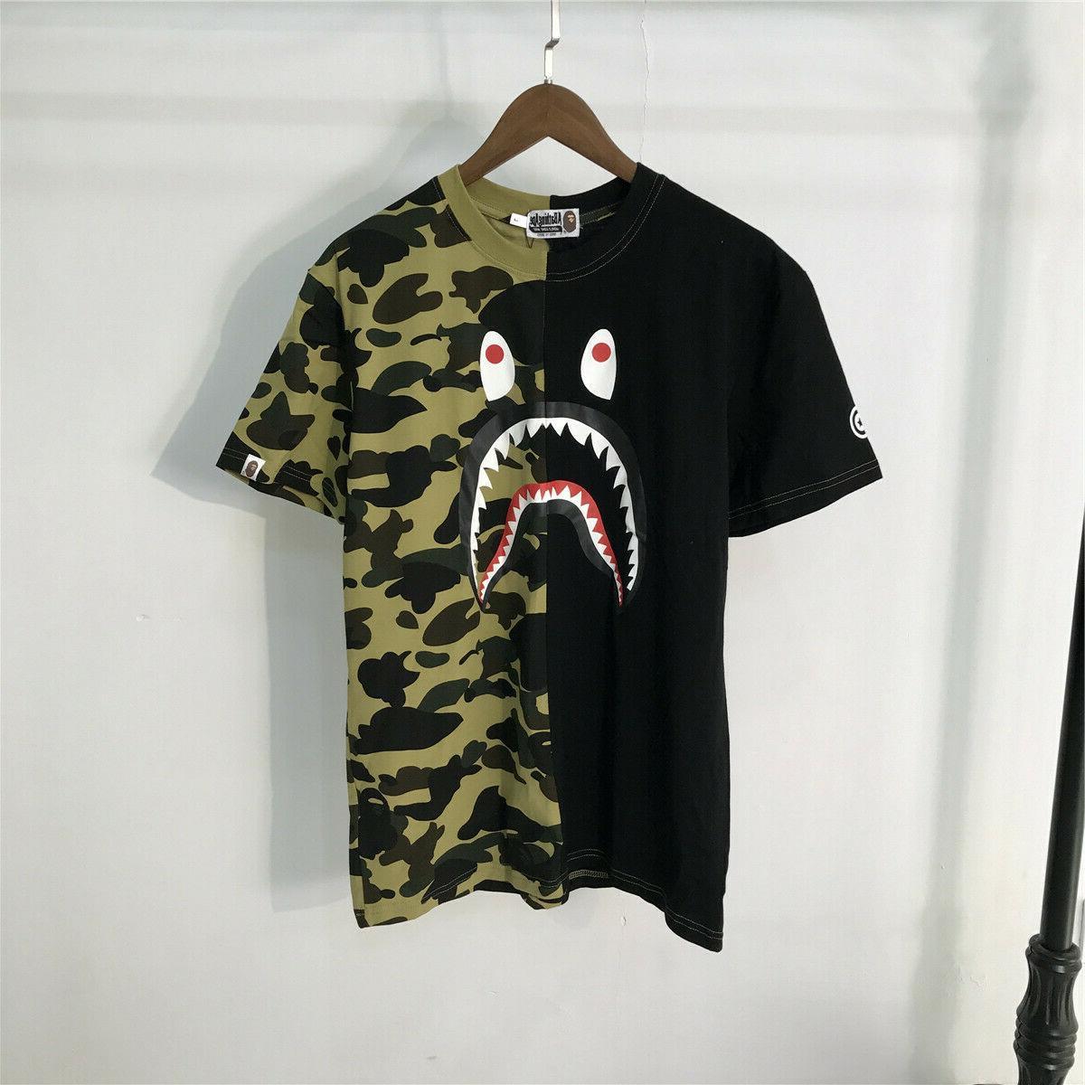 Men's T-shirt Shark Camo tee size