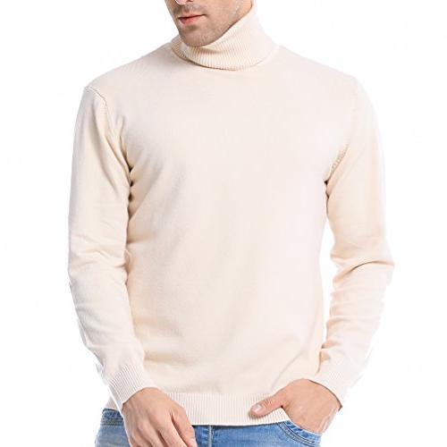 men s basic turtleneck pullover solid sweater