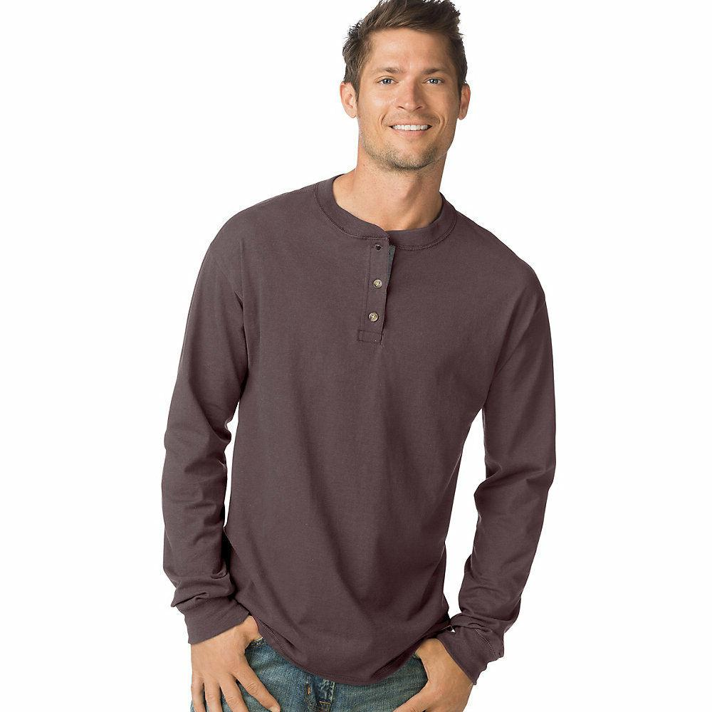 men s beefy t long sleeve henley