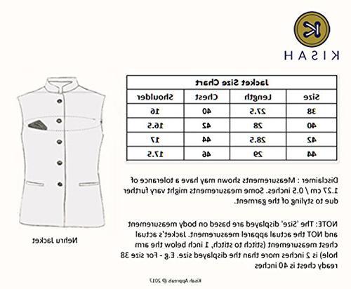 KISAH Men's Cotton Silk Self Design Kurta Set