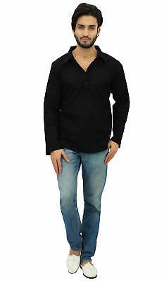 Atasi Black Roll-Over Collar Neck