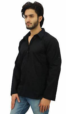 Atasi Men's Roll-Over Shirt Ethnic Indian