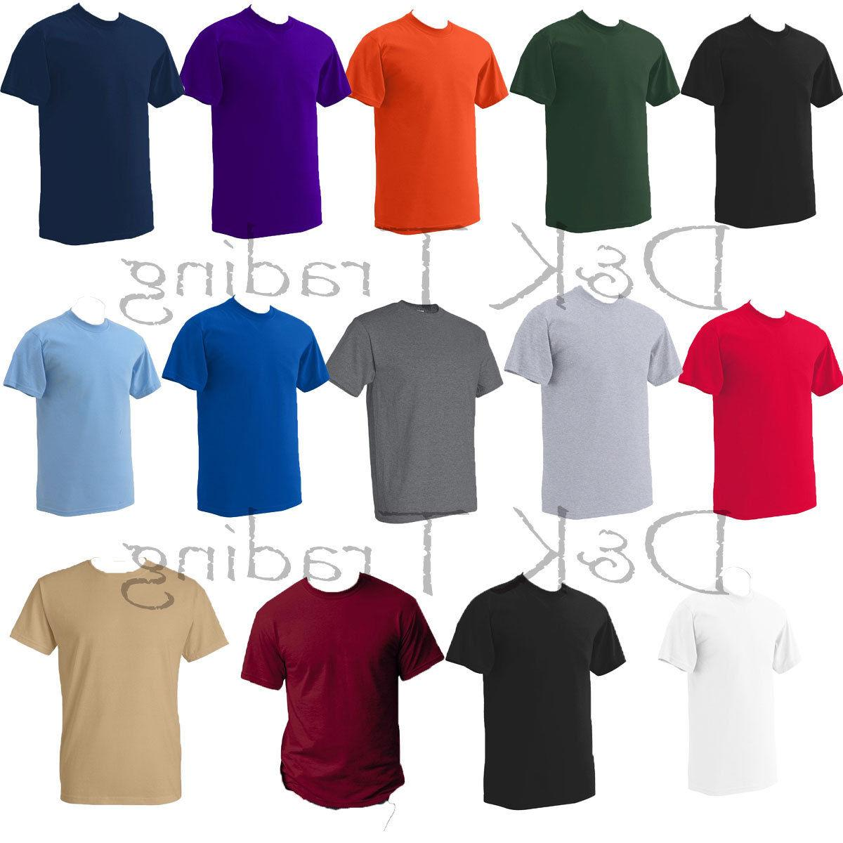 PRO CLUB MEN'S SOLID NECK SLEEVE T-SHIRT S