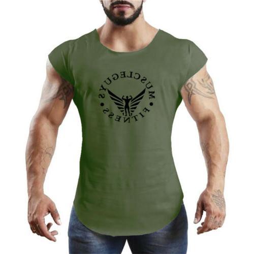 men s bodybuilding gym vests fitness sport