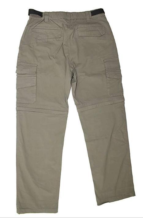 BC Convertible Cargo Hiking Pants Shorts-Khaki