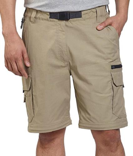 BC Clothing Men's Convertible Stretch Cargo Shorts,Zippered Pockets