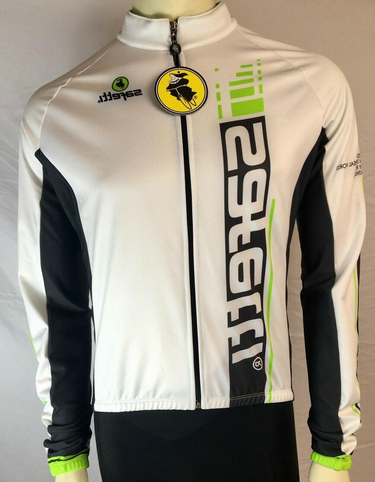 Safetti Men's Cycling LS Jersey Size Medium White
