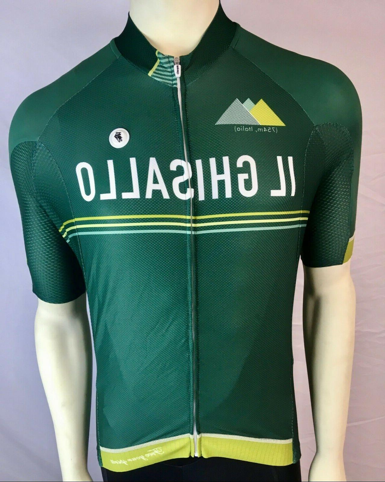 Safetti Men's Cycling SS Jersey Size Large-IL GHISALLO