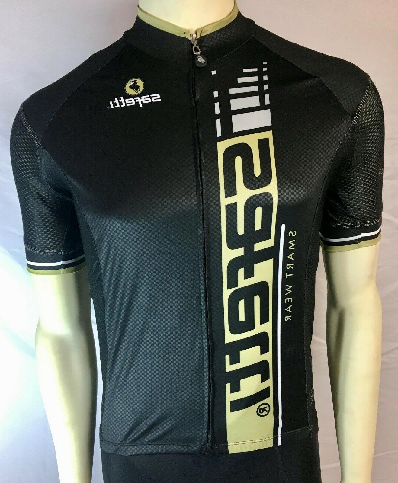 Safetti Men's Cycling SS Jersey Size Medium Black/Gold