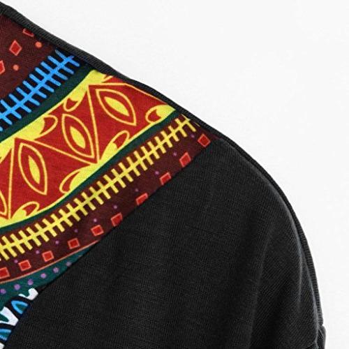 Men's Dashiki, Tribal Bright Dashiki Shirt Short Blouse